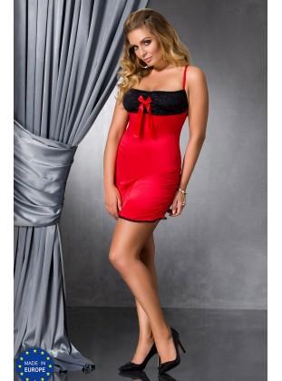 Passion LENA CHEMISE (черно- красный)