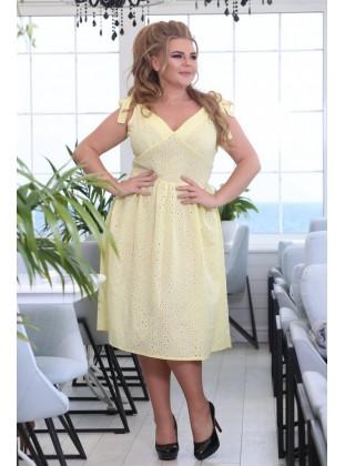 Платье Рада желтое