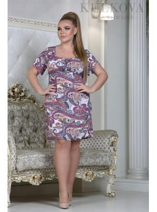 Платье RoyalSize Герлен малина