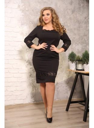 Платье RoyalSize Ирида черное