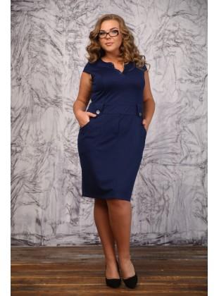 Платье RoyalSize Ксения т. синий