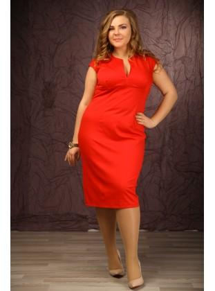 Платье RoyalSize Сандра красное